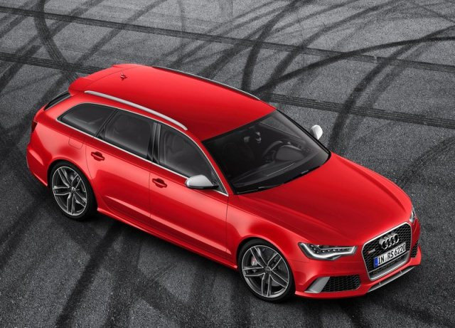 2014 AUDI AVANT RS6 red
