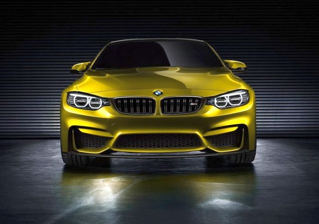 Yellow M4 COUPE Concept