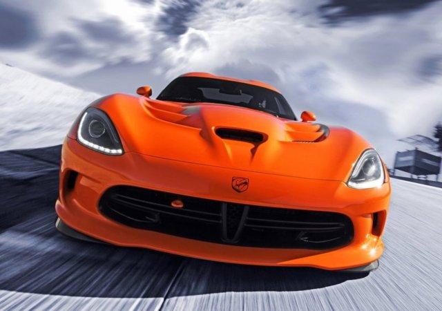 2014 DODGE VIPER SRT TA Orange color