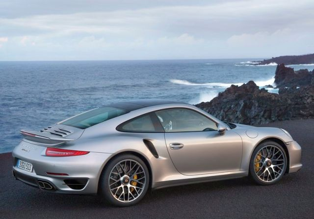 2014 PORSCHE 911 TURBO S rear view
