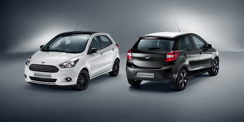 2017 FORD KA BLACK & WHITE