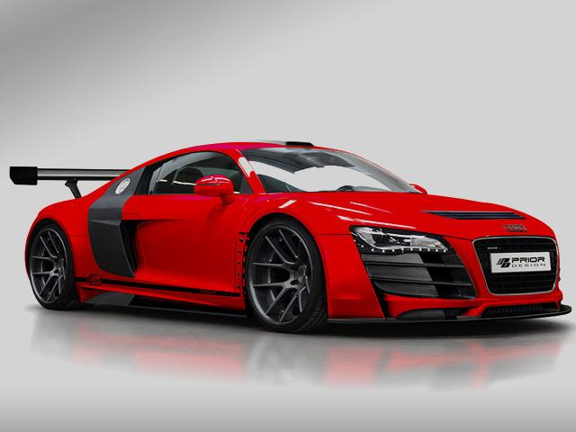 Red AUDI R8 Tuning by PRIOR DESIGN | OopsCars