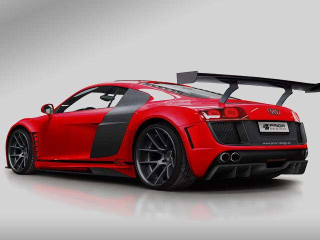 red audi r8 tuning by prior design oopscars. Black Bedroom Furniture Sets. Home Design Ideas