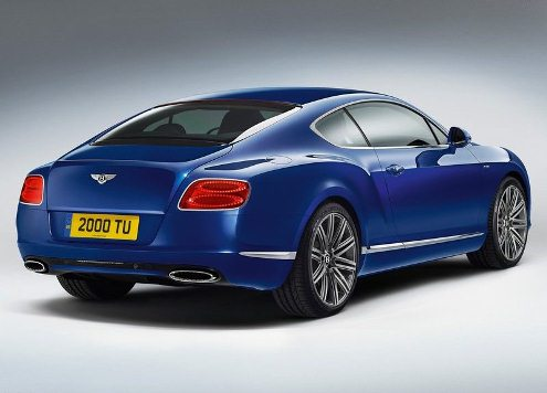 2013 BENTLEY CONTINENTAL GT SPEED rearing