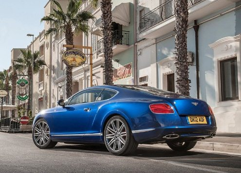 LUXURY CAR BENTLEY CONTINENTAL GT SPEED Blue