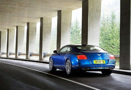 2013 BENTLEY CONTINENTAL GT SPEED blue