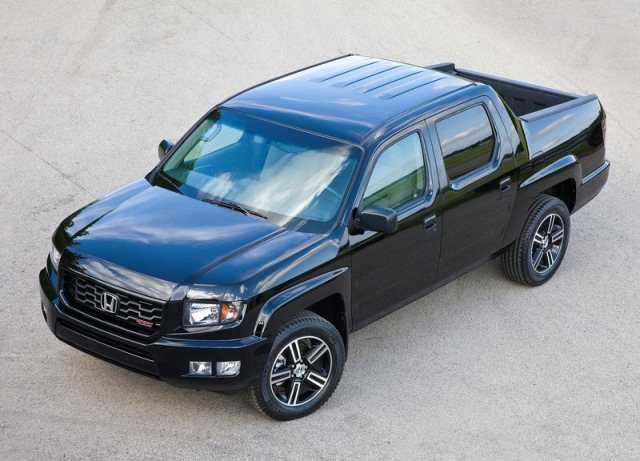 black honda pick up ridgeline sport oopscars. Black Bedroom Furniture Sets. Home Design Ideas
