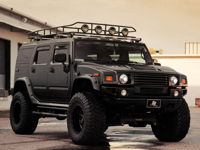 Black hummer h2 tuning by sr magnum style oopscars