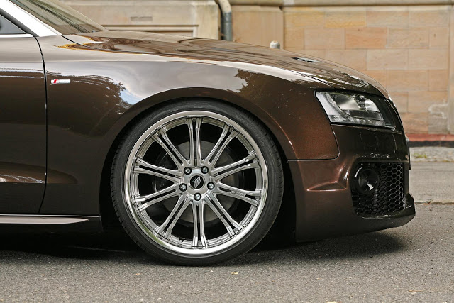 Brown AUDI A5 Cabrio tuned by SENNER
