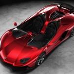 Red Lamborghini Aventador Roadster