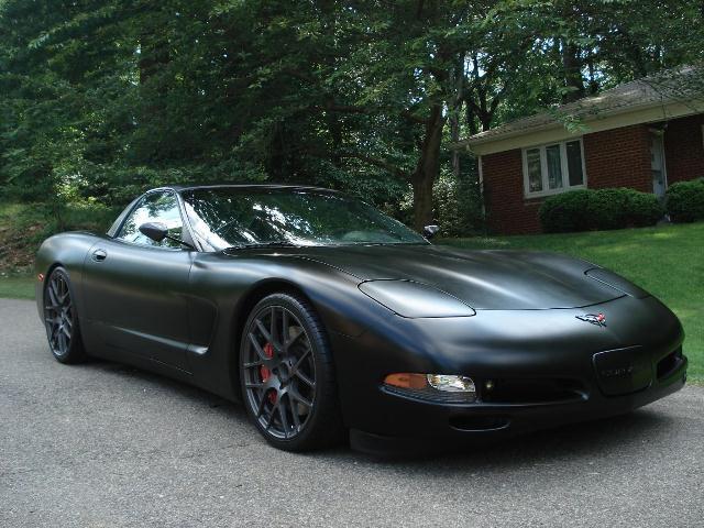 Matte Black Corvette front