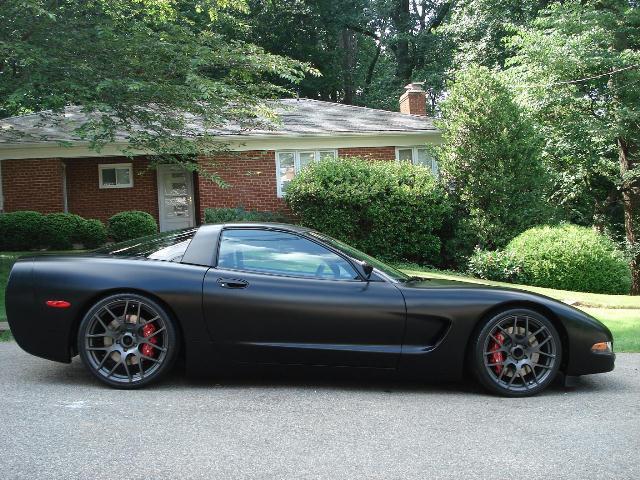 Matte Black Corvette_C5_pic