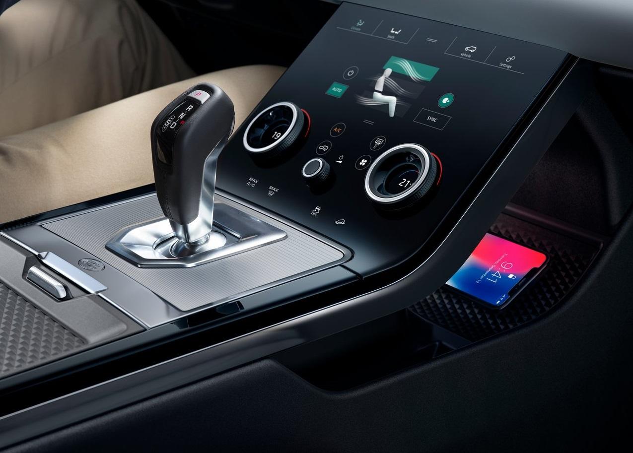 2020 Range Rover Evoque' da Joystick vites kolu kullanılmış.