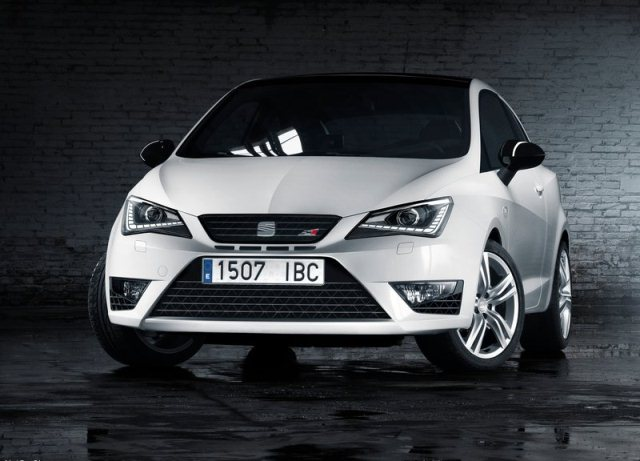 white seat ibiza cupra 2014 front pic 1 oopscars. Black Bedroom Furniture Sets. Home Design Ideas