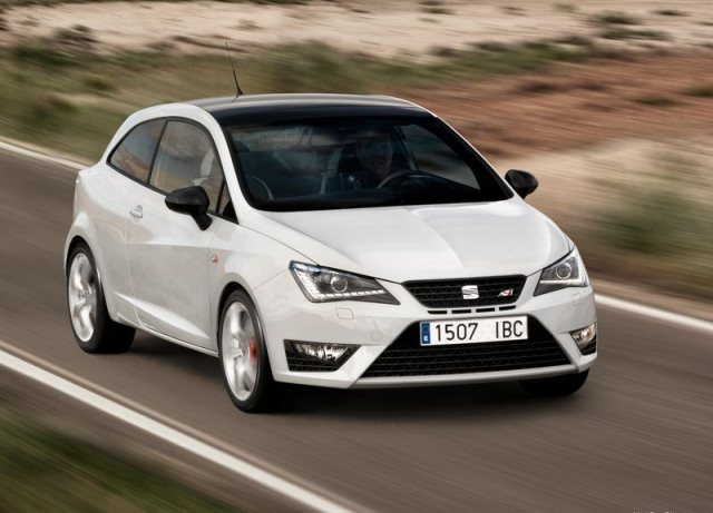 2013 seat ibiza cupra white oopscars. Black Bedroom Furniture Sets. Home Design Ideas