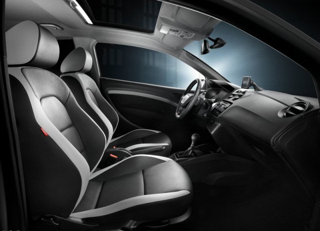 white seat ibiza cupra 2014 interior pic 13. Black Bedroom Furniture Sets. Home Design Ideas